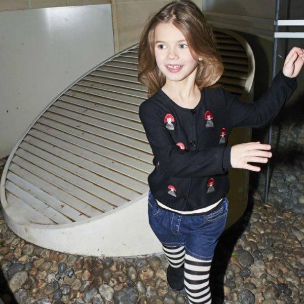 Sonia Rykiel Enfant Embelished Modal Sweater & Jean Short