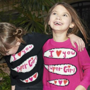 Sonia Rykiel Enfant I Love You Super Girl Sweater
