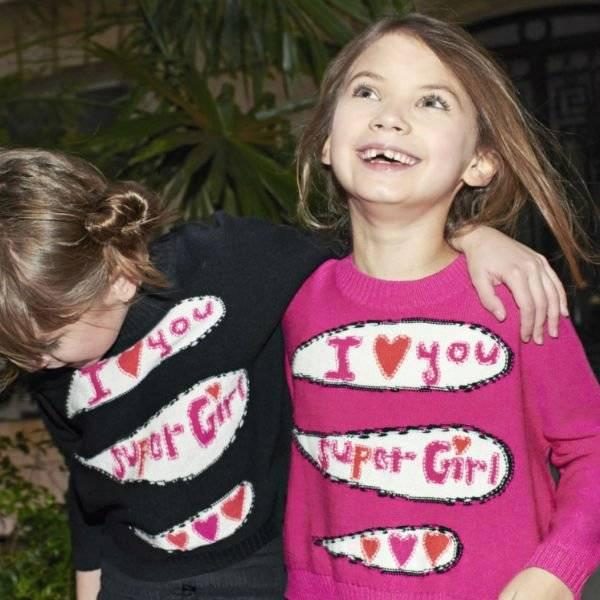 Sonia Rykiel Enfant I Love You Super Girl Sweater