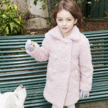 Sonia Rykiel Enfant Pink Faux Fur Coat