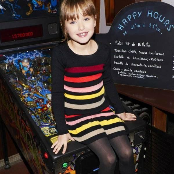 Sonia Rykiel Enfant Striped Knit Sweater & Skirt
