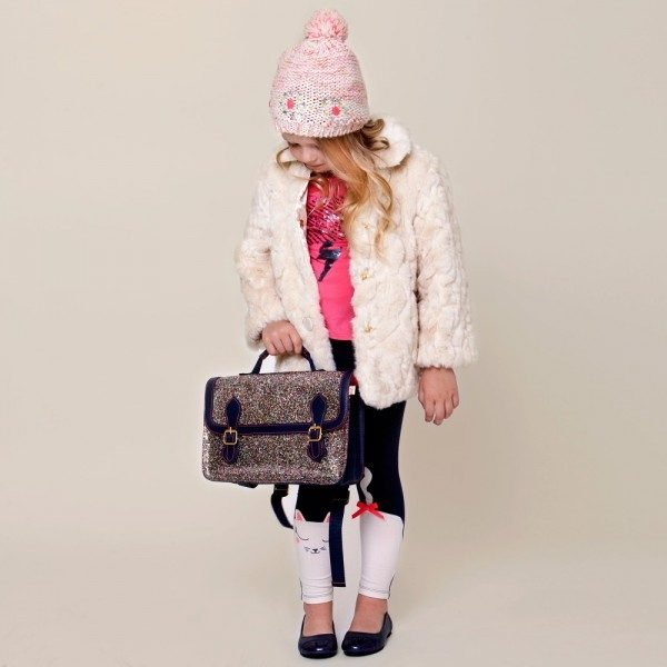 Billieblush Girls Ivory Synthetic Fur Jacket
