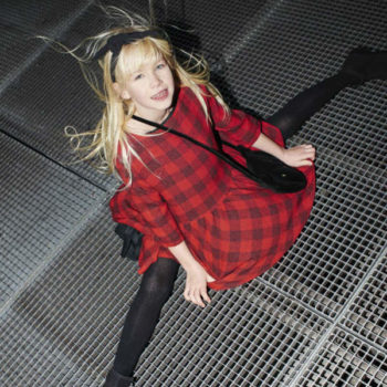Sonia Rykiel Enfant Red Black Checked Dress