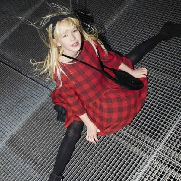 Sonia Rykiel Enfant Red Black Checked Dress