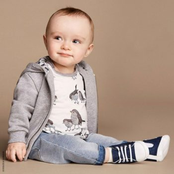 DOLCE & GABBANA Baby Boys 'Bird Friends' T-Shirt