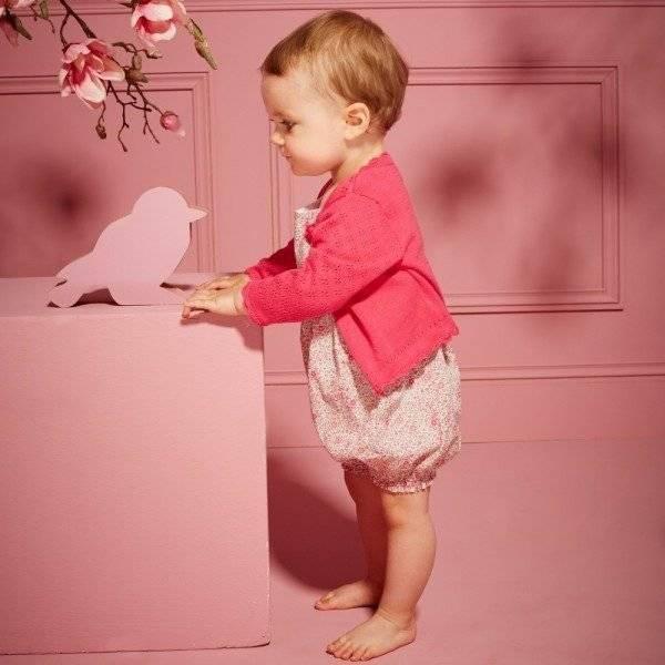 ABSORBA Baby Girls Pink & Green Liberty Print Shortie