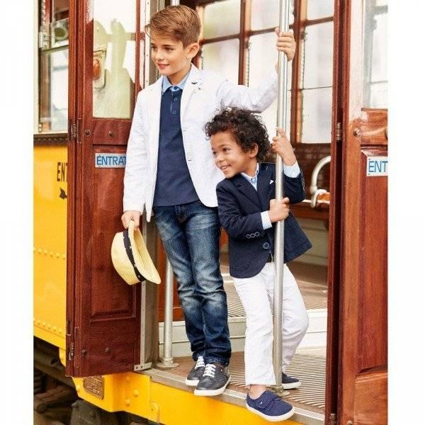 ARMANI JUNIOR Boys White Cotton & Linen Blazer