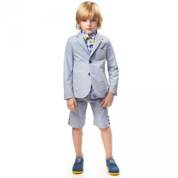 FENDI Boys Pale Cotton Suit & Lightbulb Shirt