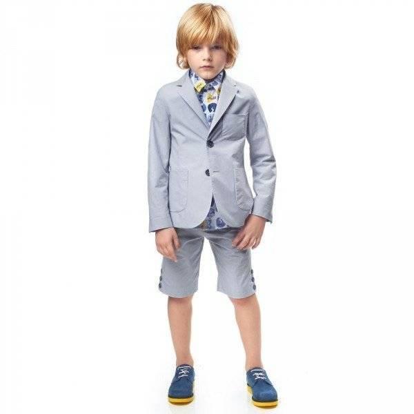 FENDI Boys Pale Cotton Suit & Lightbulb Shirt