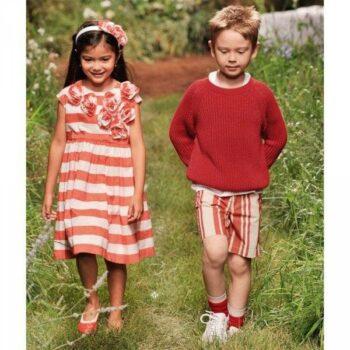IL GUFO Orange & White Stripe Dress