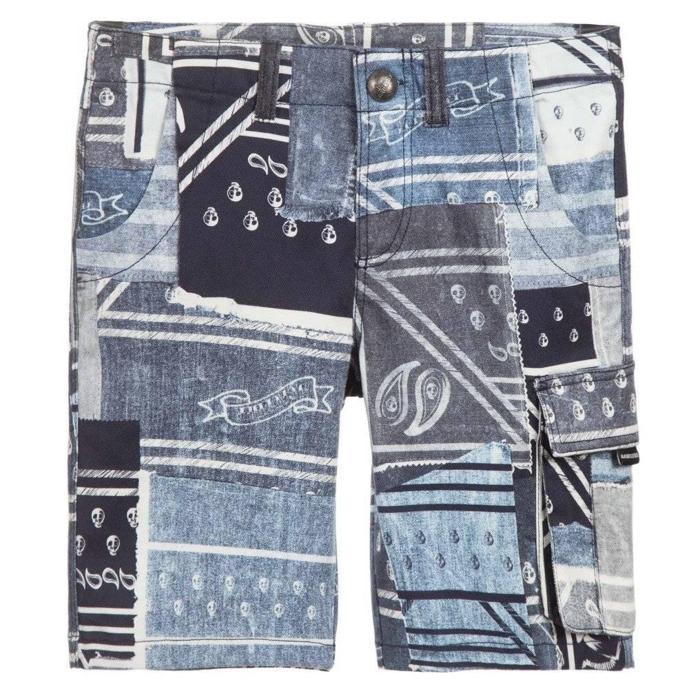 Junior Gaultier Boys Bandana Bermuda Shorts & White Polo Shirt ...