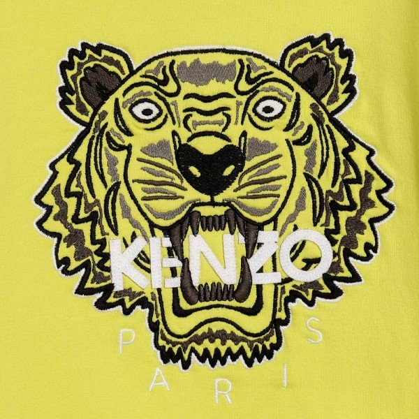 KENZO Boys Lime Green Tiger Sweatshirt