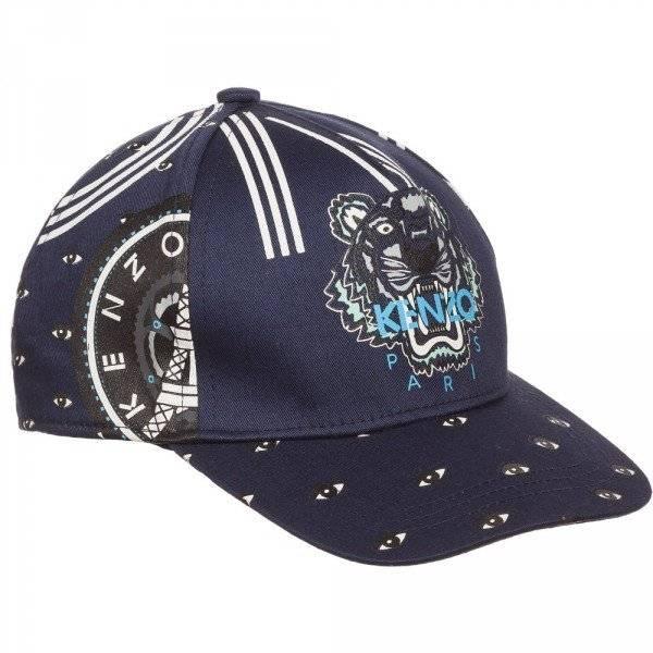 KENZO Navy Blue 'Tiger' Cotton Baseball Cap
