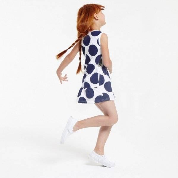 KENZO Kids White & Navy 'Funny Stripes' Sleeveless Dress