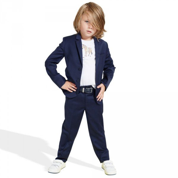 1e8668d2121cef PAUL SMITH JUNIOR Mini Me Boys Blue Lyrod & Lassa 2 Piece Wool Suit ...