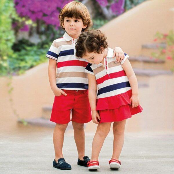 Tutto-Piccolo-Striped-Cotton-Pique-Polo-Dress