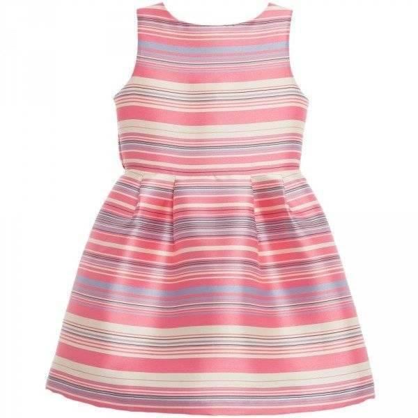Charabia Pink Striped Satin Dress