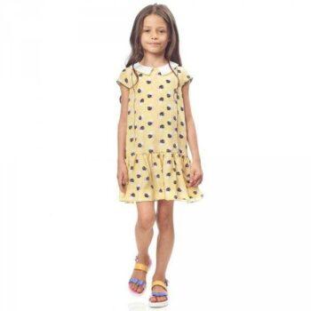 FENDI Yellow Silk 'Bag Bugs' Logo Dress