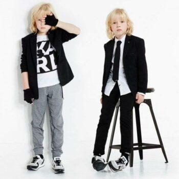 Karl Lagerfeld Kids Boys Rock Chic Blazer and Tie