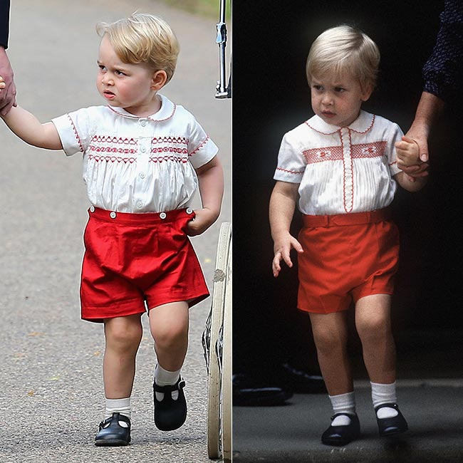 PRINCE GEORGE- RACHEL RILEY RED & IVORY HAND SMOCKED BUSTER SUIT