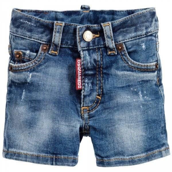 DSQUARED2 Baby Boys Blue Denim Shorts