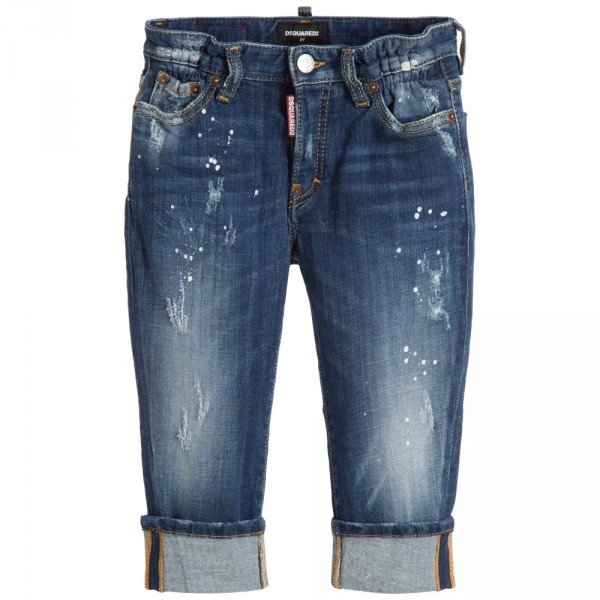 DSQUARED2 Blue Distressed 'Big Dean's Brother' Jeans