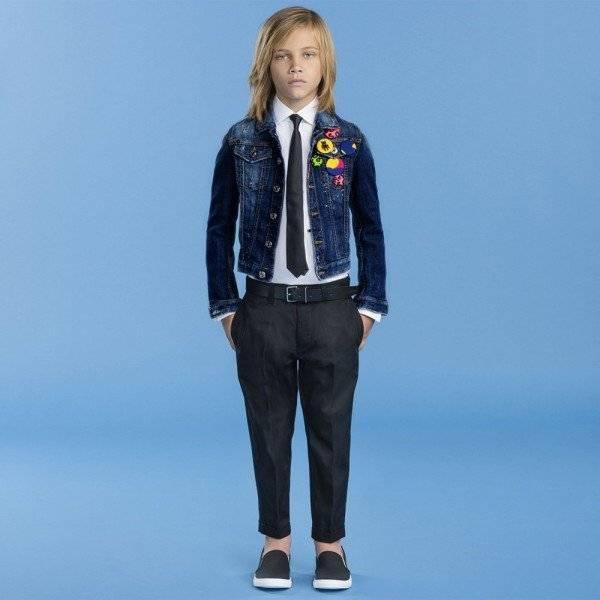 DSQUARED2 Blue Distressed Denim Jacket