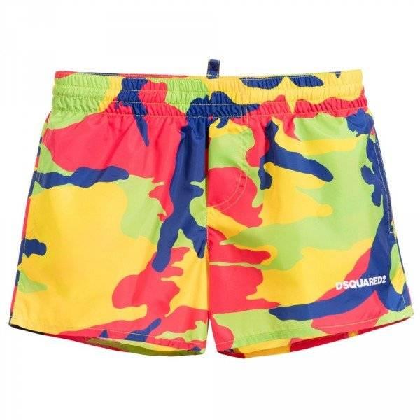 DSQUARED2 Boys Camouflage Print Swim Shorts