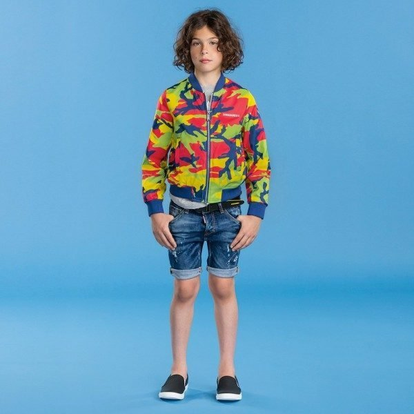 DSQUARED2 Boys Lightweight Camouflage Jacket