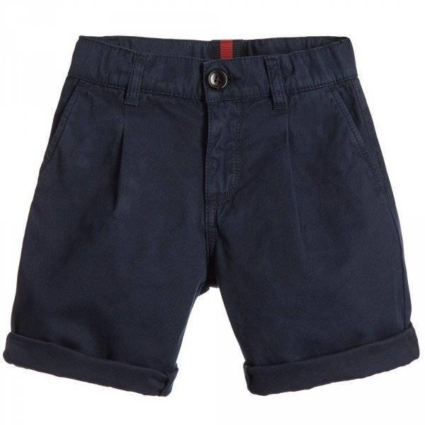 GUCCI Boys Navy Blue Bermuda Shorts