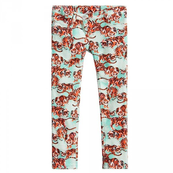 KENZO Girls Orange Tiger 'Jungle' Jeans