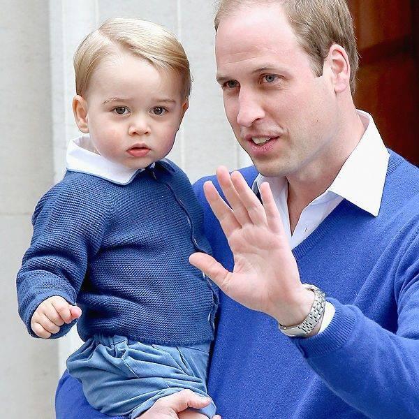 RACHEL RILEY Baby Boy Blue Suit Worn by Prince George