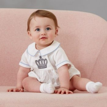 RACHEL RILEY Ivory Prince Crown Emblem Shortie