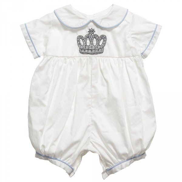 RACHEL RILEY Ivory Prince Crown Emblem Shortie