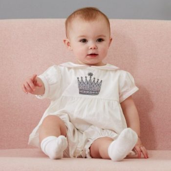 RACHEL RILEY Ivory Princess Crown Emblem Shortie