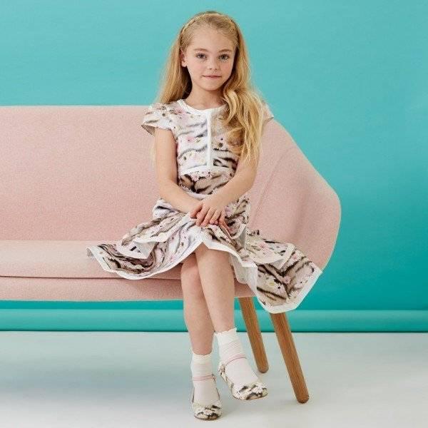 ROBERTO CAVALLI Daisy & Tiger Structured Satin Dress