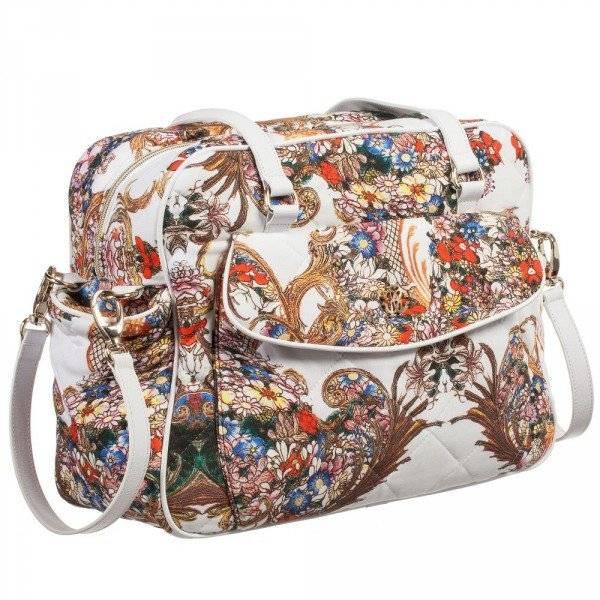 ROBERTO CAVALLI Floral Baroque Baby Changing Bag Mat