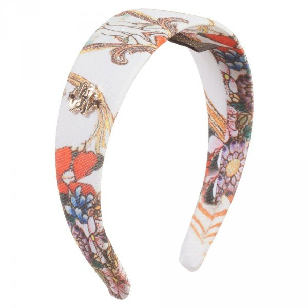 ROBERTO CAVALLI Girls Baroque Floral Hairband