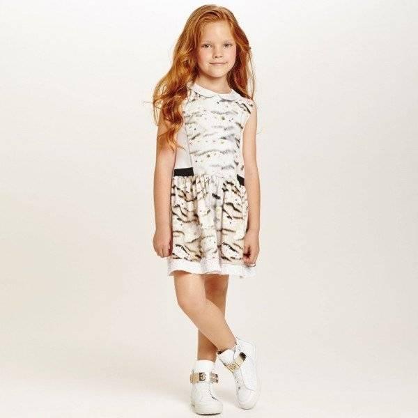 ROBERTO CAVALLI Pink Daisy & Tiger Dress