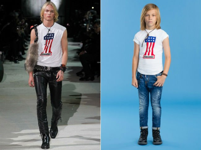 Dsquared2 Boys Mini Me One Flag Tshirt