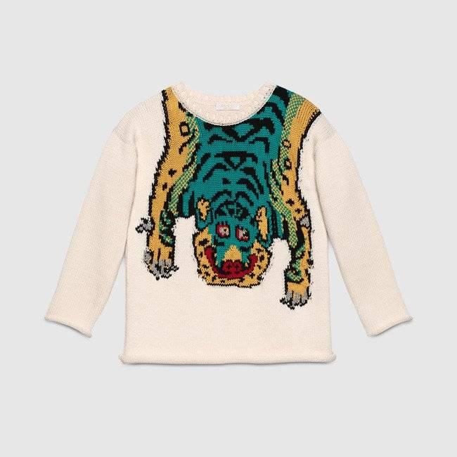 GUCCI Boys Tiger Sweater
