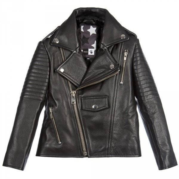 MOLO Black Leather 'Halvor' Biker Jacket