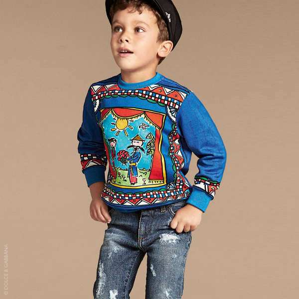 Toddler//Little Kids Dolce /& Gabbana Kids Mens Sicily Sweatshirt