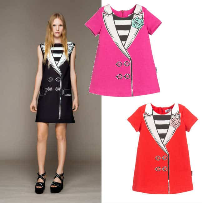 MOSCHINO BABY Baby Girls 'Jacket' Print Dress