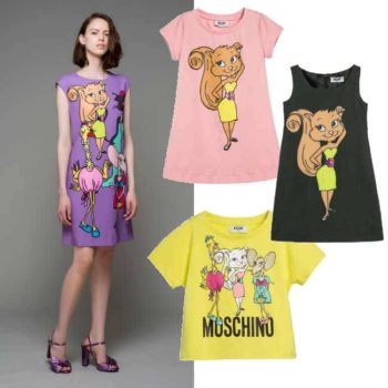 MOSCHINO KID-TEEN Girls Green 'Vanity Pets' Dresses