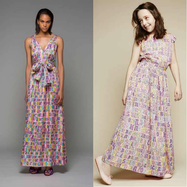 MOSCHINO KID-TEEN Pink 'Bon Bon' Maxi Dress