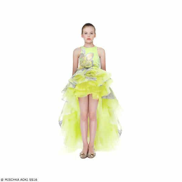Mischka Aoki And The Flower Smile Dress SS16