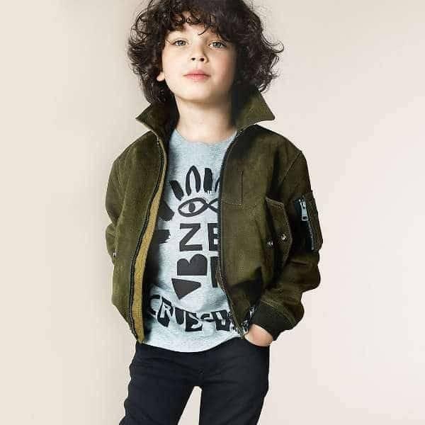 BURBERRY Boys Grey & Black Zebra T-Shirt