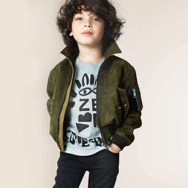 BURBERRY Boys Grey & Black Zebra T-Shirt