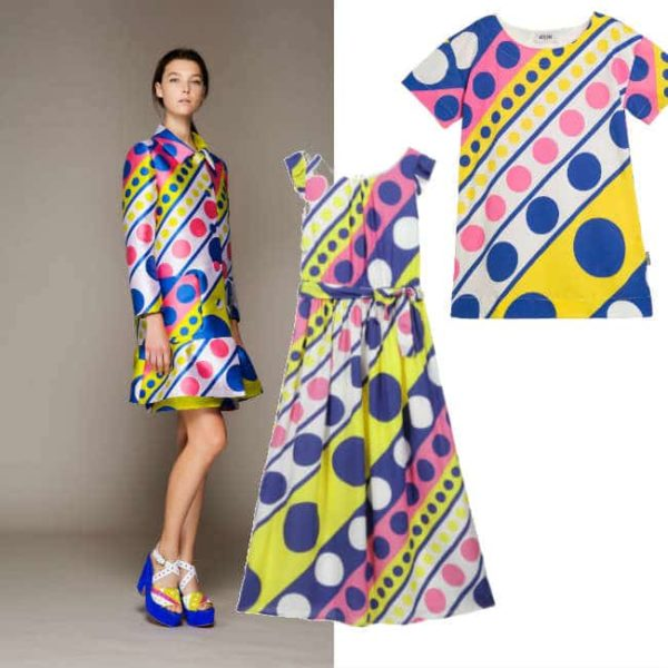 moschino girls twiggy dress ss16